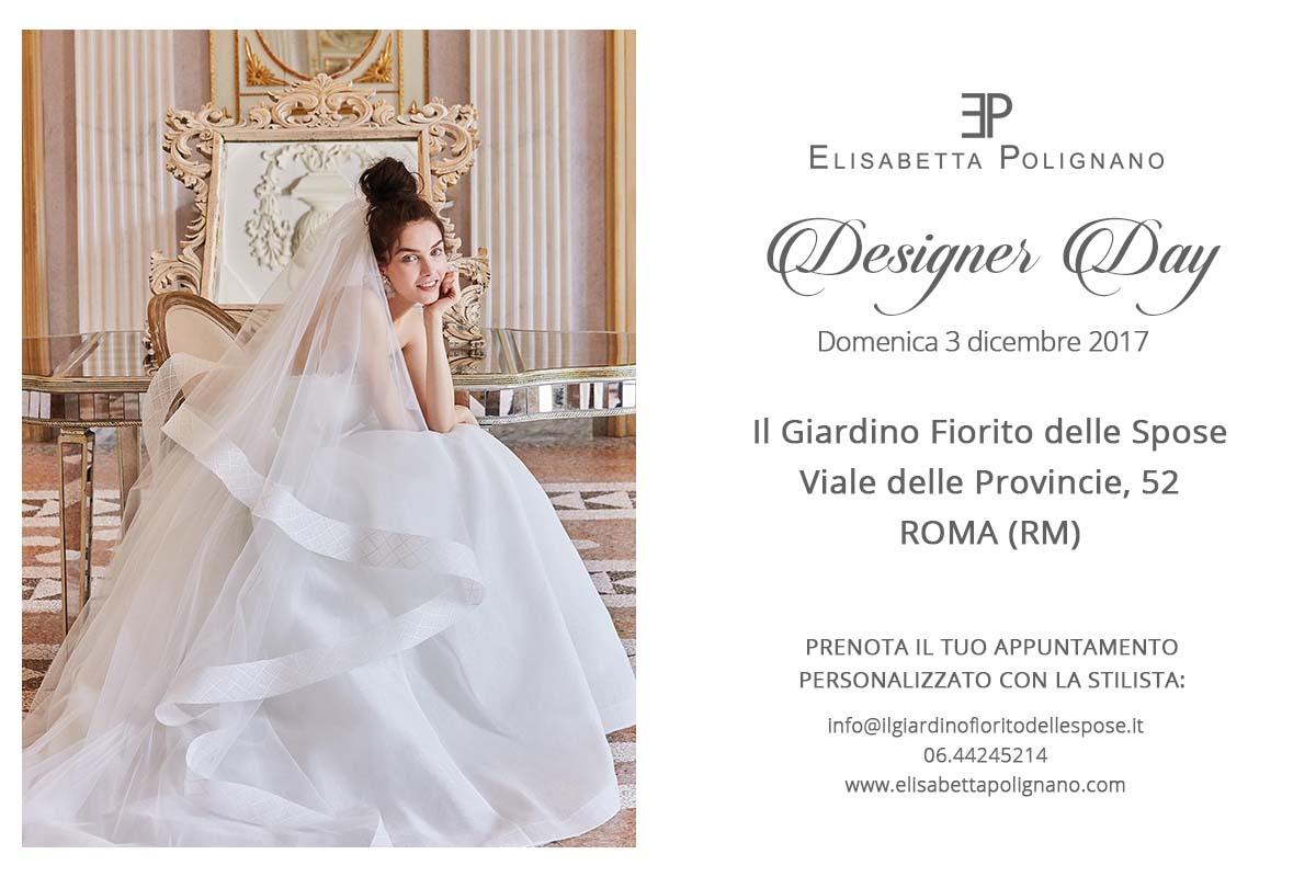 """ITALY """"Designer Day con Elisabetta Polignano"""" Giardino Fiorito delle Spose di Roma (RM)"""